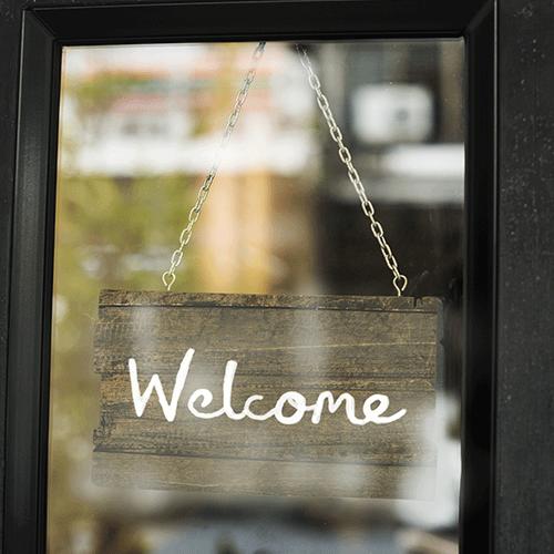 Pancarte Welcome